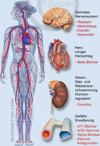 Medikation Medikamente Pharmazeutika gegen Bluthochdruck Hypertonie